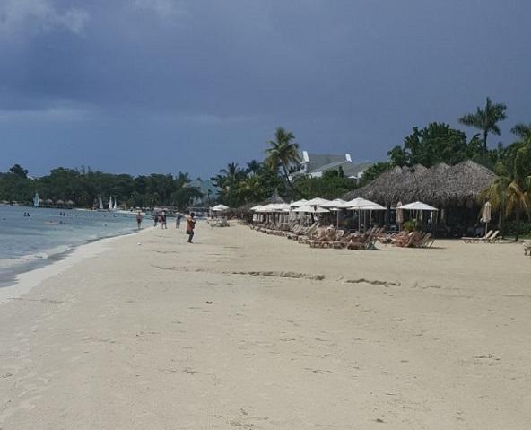 A beach in Negril